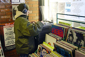 Listening deck - Kingbee Records, Chorlton, Manchester
