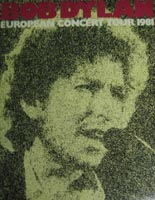 Bob Dylan Tour European Tour Programme from 1981