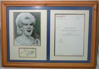 Dusty Springfield - Framed autograph / photo