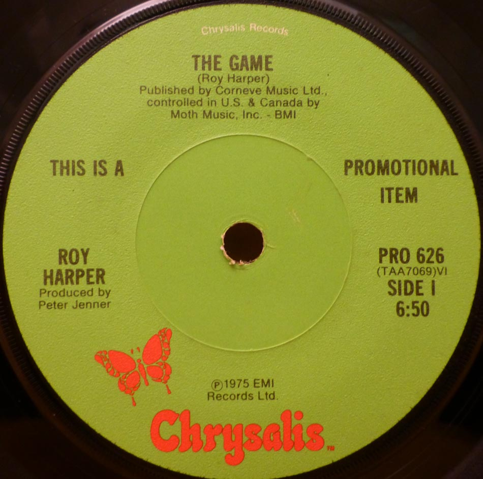 haircut discount coupon kingbee records shop in manchester classic and 6059 | roy harper single the game us promo chrysalis pro 626