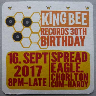 Kingbee Records 30th Anniversary Flyer from 2017