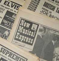 New Musical Express newspapers from 1968 - 70
