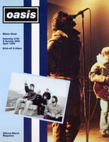 Oasis Tour Programme from Maine Rd in April 1996
