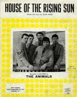Sheet Music - House Of The Rising Sun by The Animals